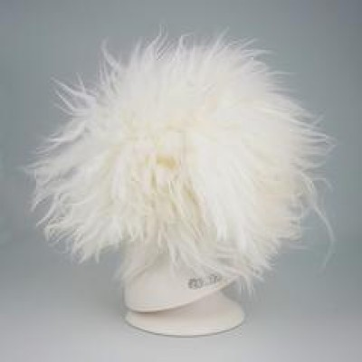 Perruque blanche  pour tête modeldog - ( a teindre)