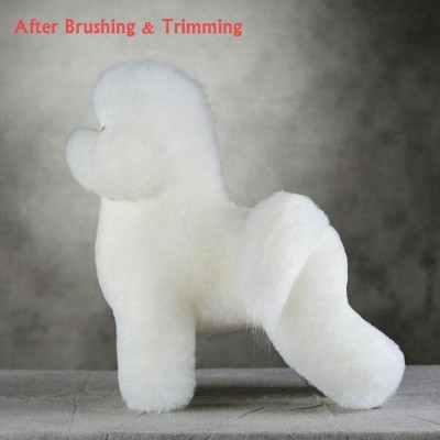 Ensemble Bichon Model dog et pelisse de poil Blanc Opawz