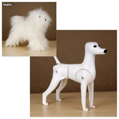 Ensemble Caniche Toy Model dog et pelisse Blanche régulière Opawz