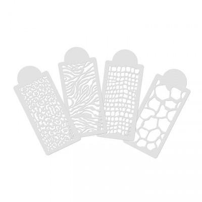 Pochoir non adhésif en plastique de motif animal